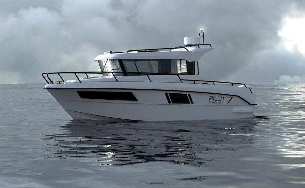Monikäyttöinen joka sään retki- ja yhteysvene Finnmaster pilot 7 vuosimalli 2021