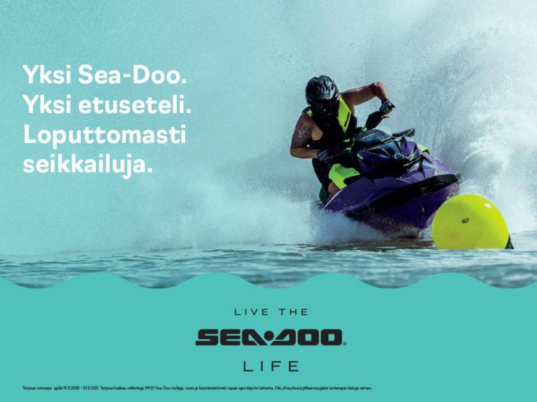 Vuosimallin 2021 Sea-Doo 800 euron etuseteli